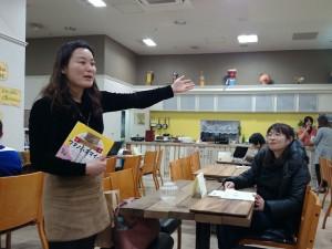 ぐるぐる応援団代表 鹿島さん(左)と語り部 山田さん(右)